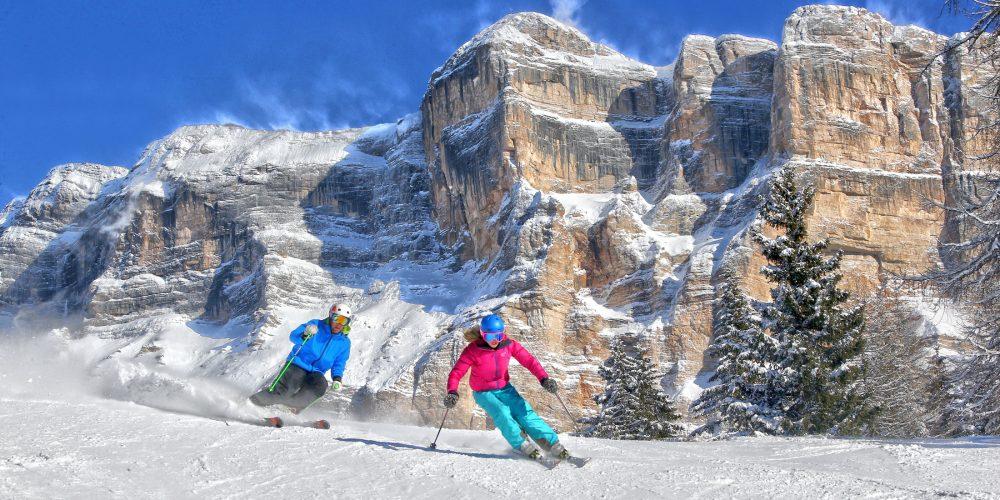 Skifahren in Südtirol, Alta Badia, La Crusc 2