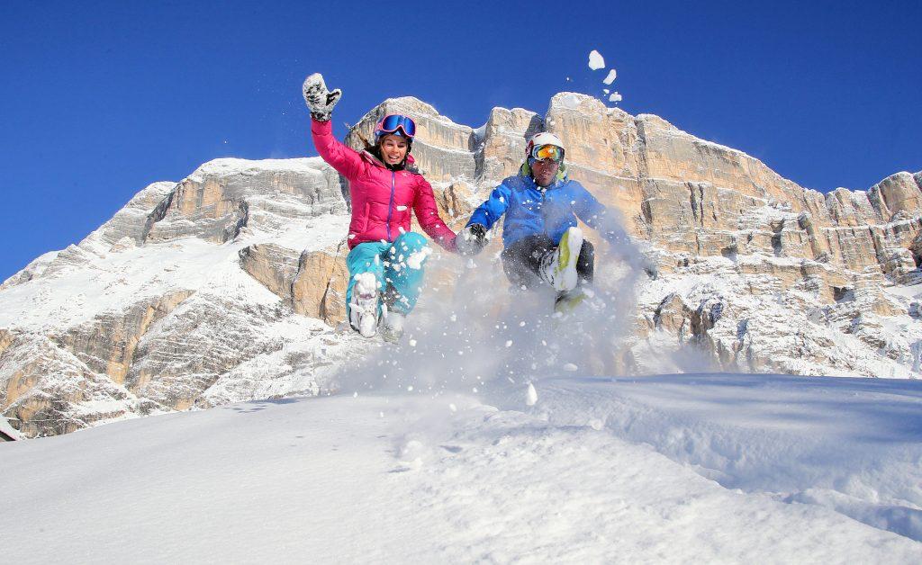 Skifahren in Südtirol, La Crusc, Paare