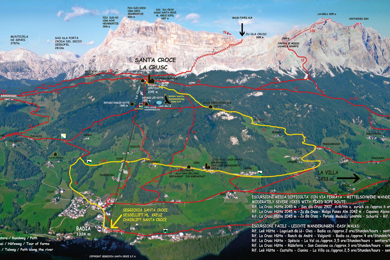 Mountain Biking La Crusc Alta Badia