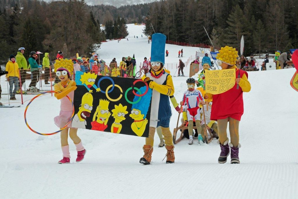 Event Winter La Crusc Alta Badia Kinder Karneval