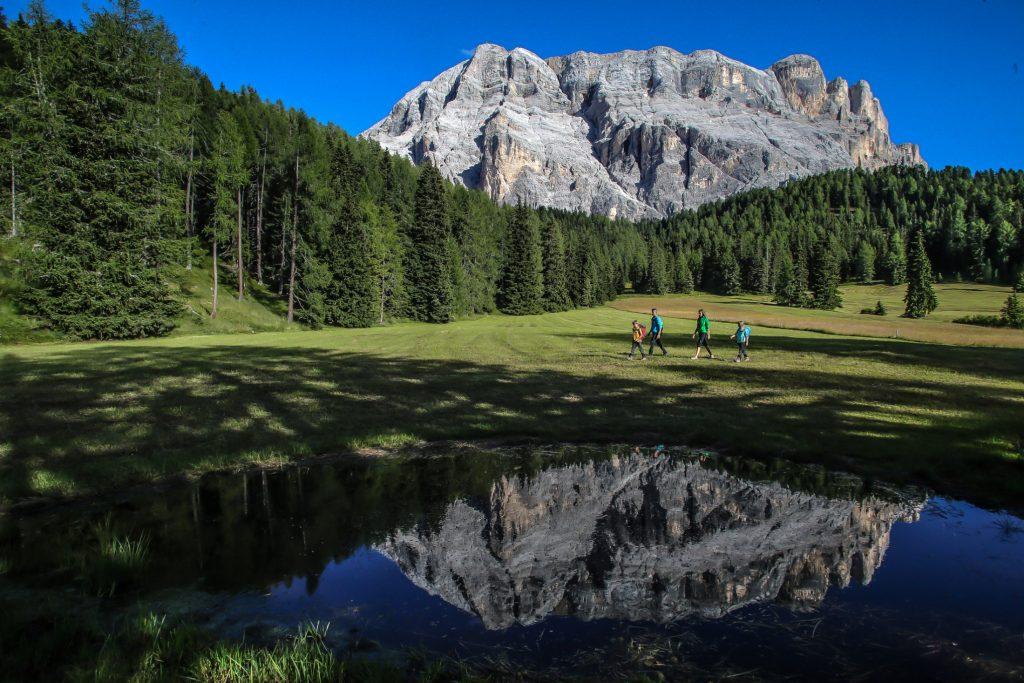 Leichte Wanderungen Südtirol Alta Badia La Crusc 7, Familie